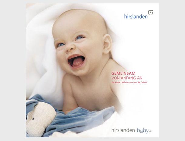 Baby-Broschüre für Hirslanden Gruppe