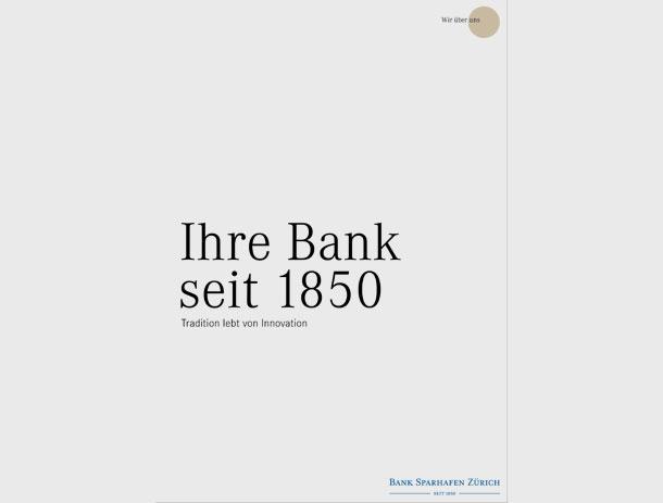 Image-Broschüre für Bank Sparhafen