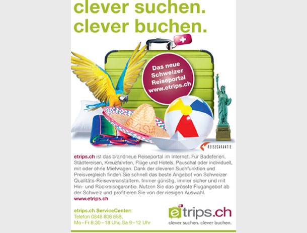 Publikums-Anzeigen-Serie für TUI Suisse