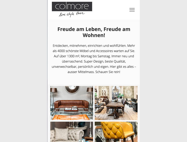 Website für Colmore Swiss AG