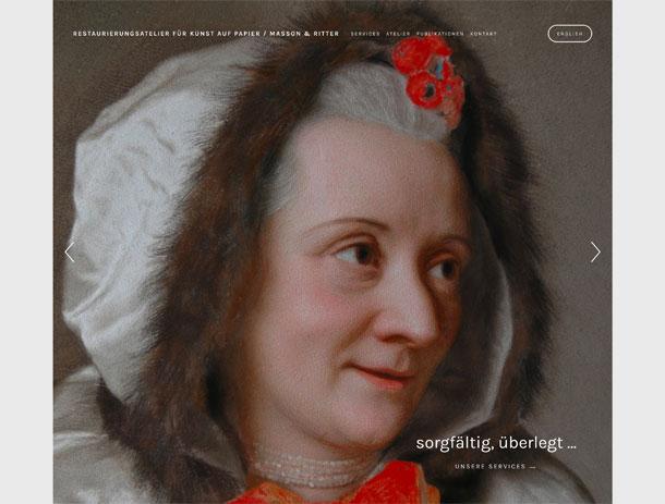 Website für Restaurierungsatelier Kunst auf Papier