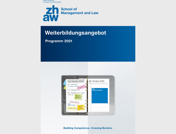 Weiterbildungsbroschüre für ZHAW School of Managment and Law