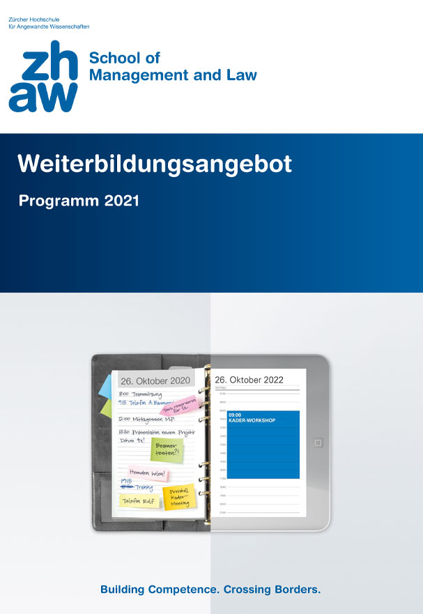 School of Management and Law - Weiterbildungsangebot 2021